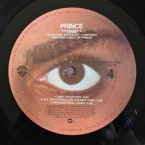 prince 1999 side 4 label art