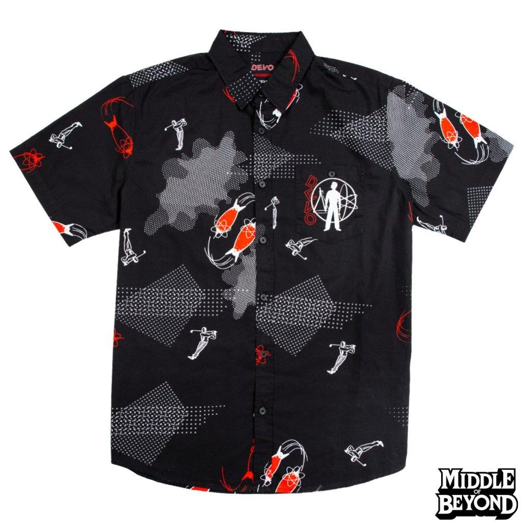 DEVO black leisurewear shirt