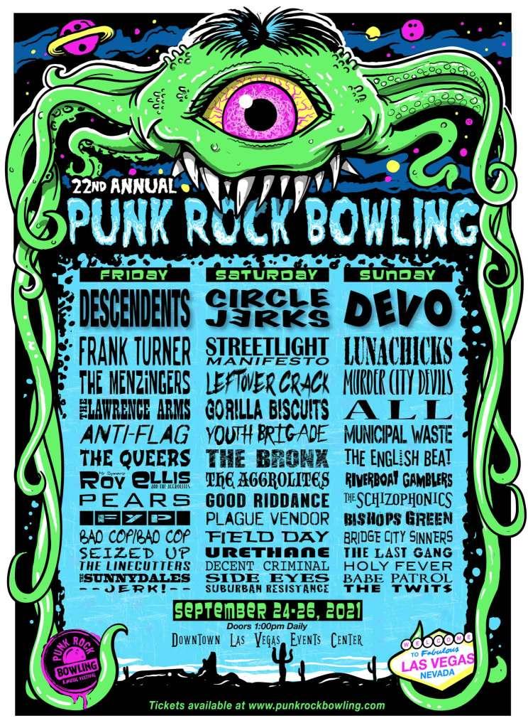 Punk Rock Bowling 2021 poster