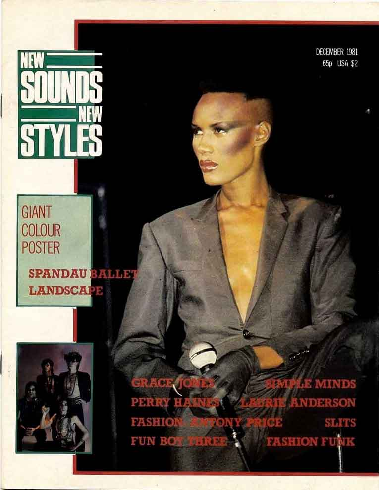 grace jones on the cover of new sounds new styles magazine
