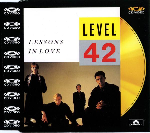 level 42 - lesson in love CDV cover art