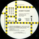 """Robert Palmer - early in the morning US 12"""" #2 label art"""