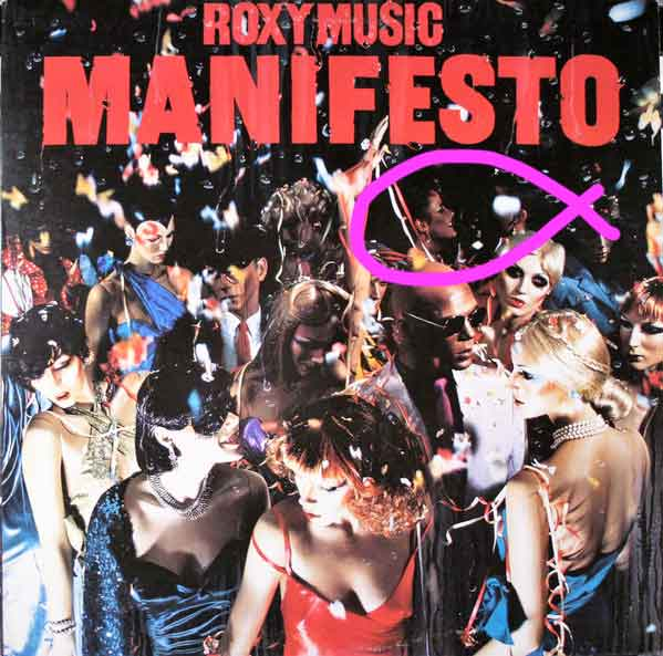 roxy music manifesto cover with real persons circled