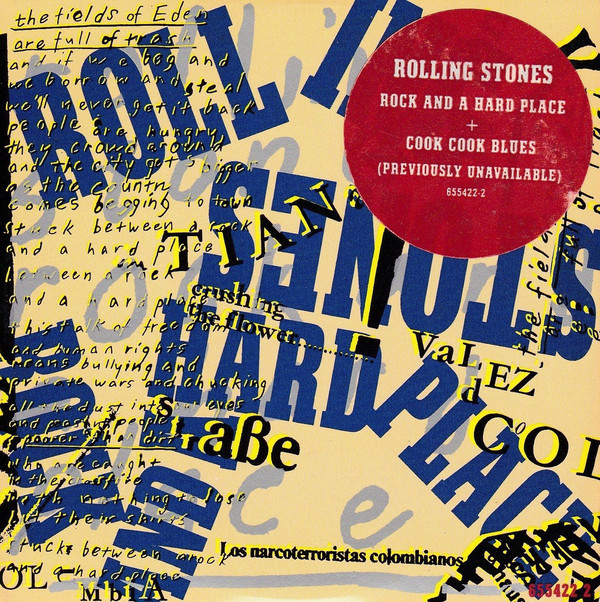 rolling stones - rock + a hard place cover art