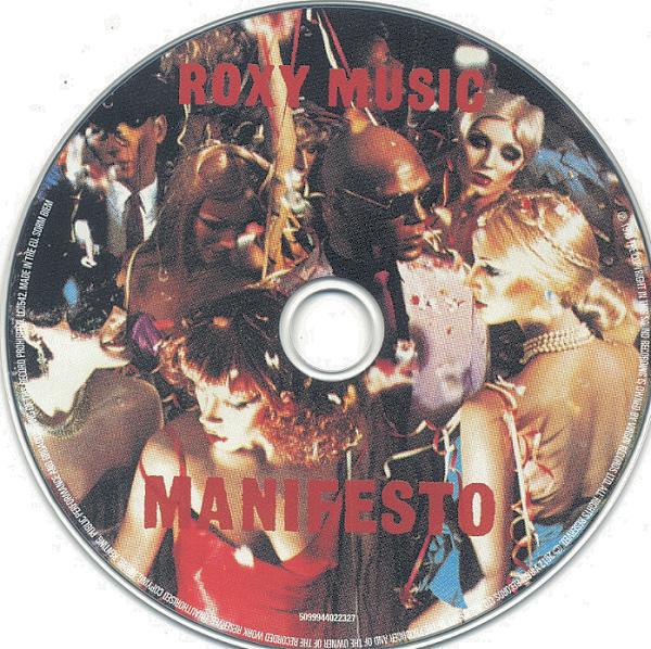 2012 picture CD art for Roxy Music's Manifesto