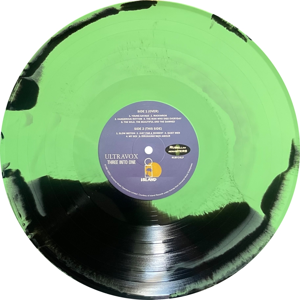 ultravox three-into-one green/black LP